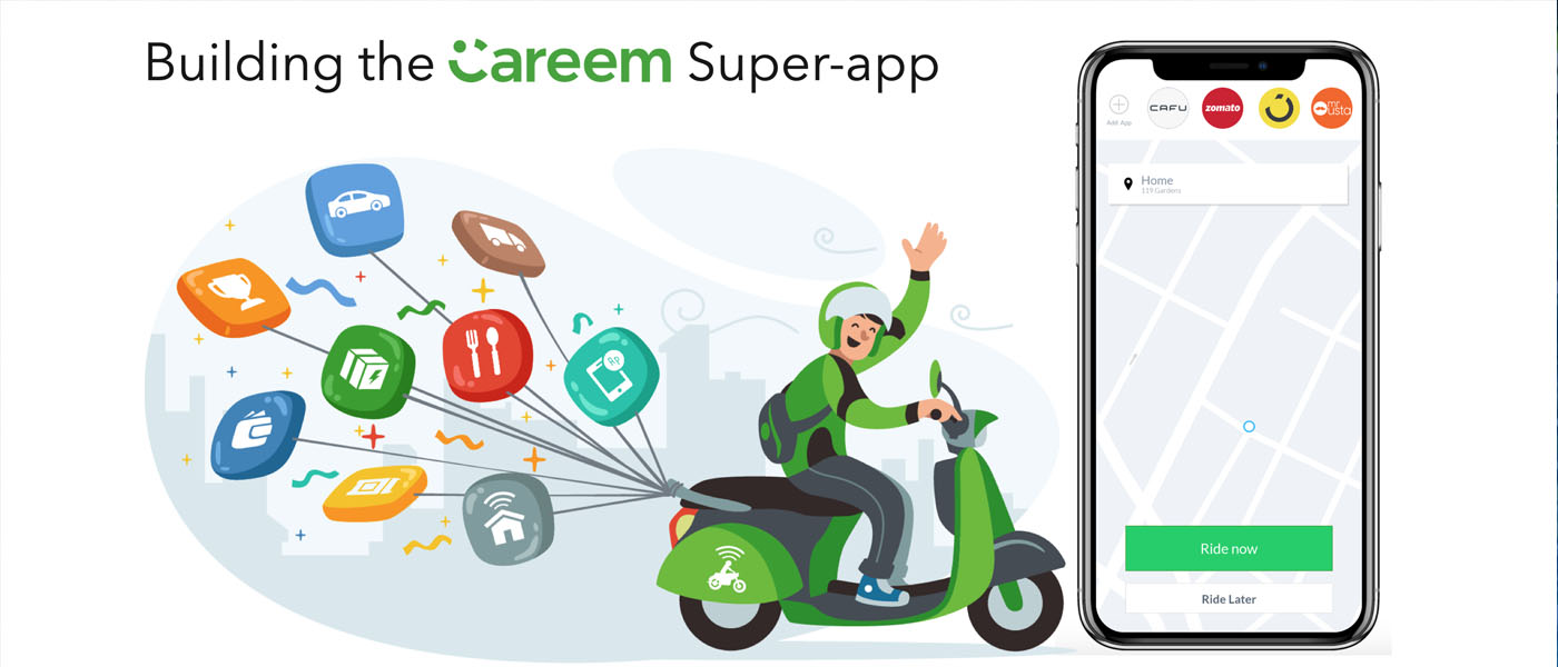 "ِشركة ""كريم"" Careem تعلن إطلاق تطبيقها الفائق Super App في بعض أسواقها"